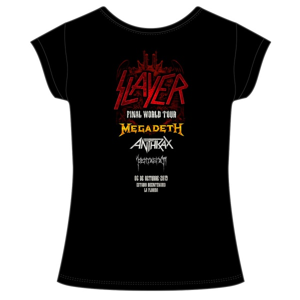 "SLAYER ""FINALWORLD TOUR"" mujer"