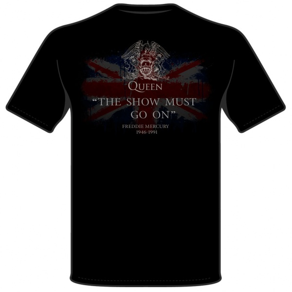 "FREDDIE MERCURY ""THE SHOW MUST GO ON"" polera"