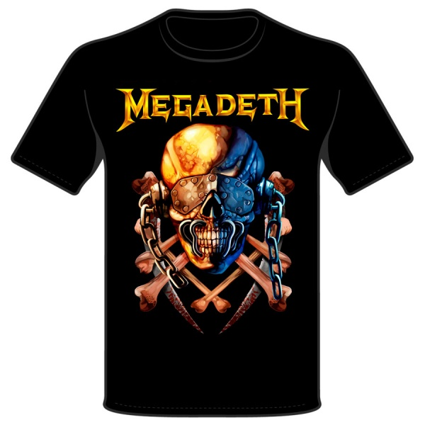 """MEGADETH """"VIC SKULL"""" polera"""