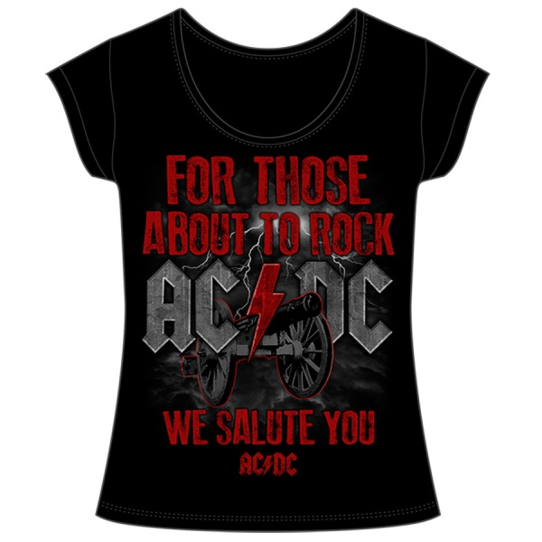"AC DC ""WE SALUTE YOU"" polera mujer"