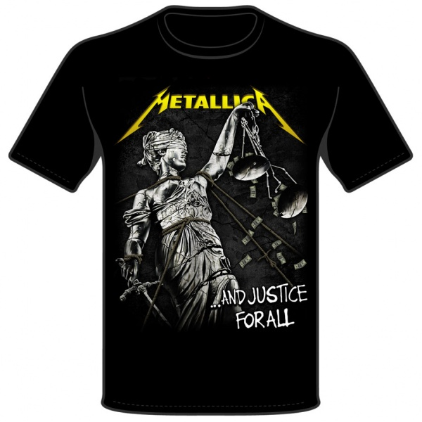 """METALLICA """"AND JUSTICE FOR ALL"""" polera"""