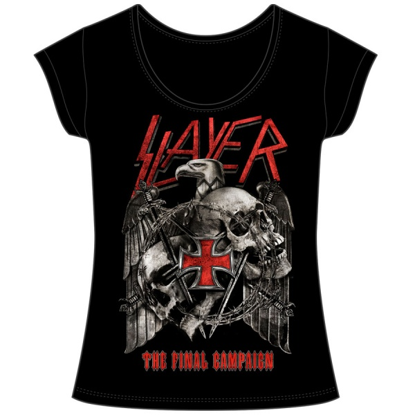 "SLAYER ""THE FINAL CAMPAIGN"" polera mujer"