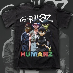 "GORILLAZ ""HUMANZ"" polera"