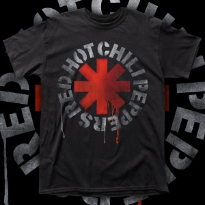 """RED HOT CHILI PEPPERS """"Logo BLOOD"""" polera"""